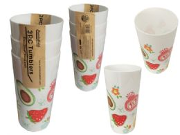72 Units of 3 Piece Printed Tumblers - Cups