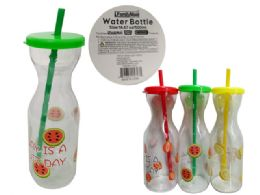 96 Units of PRINTED FRUIT WATER BOTTLE - Drinking Water Bottle