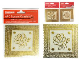72 Units of 6 Piece Square Coasters - Coasters & Trivets