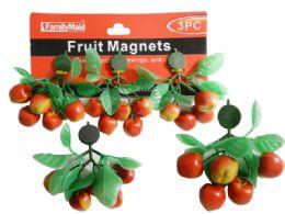 72 Units of 3 Piece Fruit Magnet - Refrigerator Magnets