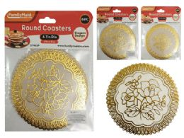 144 Units of 6 Piece Round Coasters - Coasters & Trivets