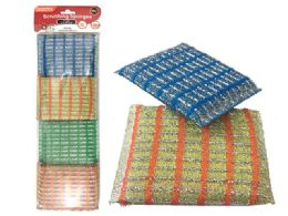 96 Units of 4 Piece Scouring Sponges - Scouring Pads & Sponges