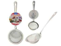 72 Units of Stainless Steel Strainer With Handle - Stainless Steel Cookware