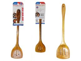 144 Units of SLOTTED TURNER POLISHED BAMBOO - Kitchen Cutlery