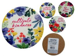 72 Units of Printed Coaster Round - Coasters & Trivets