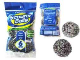 96 Units of 6 Piece Scourer Ball - Scouring Pads & Sponges