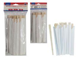 24 Units of Disposable Chopsticks Birchwood - Kitchen Cutlery