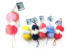 96 Units of LOOFAH BALL WITH STRAPS - Bath And Body