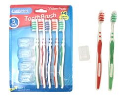 72 Units of Toothbrushes 5 Piece Set - Toothbrushes and Toothpaste