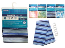 24 Units of Shower Curtain With 3 Magnets - Shower Curtain