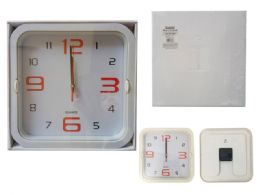 24 Units of Square Wall Clock In White - Clocks & Timers