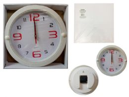 24 Units of Round Wall Clock In White - Clocks & Timers