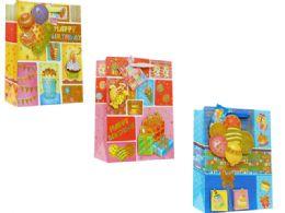 144 Units of Gift Bag Medium Size Happy Birthday - Gift Bags Everyday
