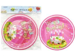 144 Units of Boys Birthday Party Plates 8 Pieces - Party Paper Goods