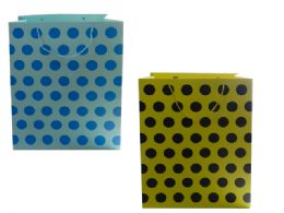 96 Units of Polka Dot Gift Bag - Party Paper Goods