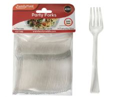 96 Units of 40 Piece Mini Silver Tasting Forks - Disposable Cutlery