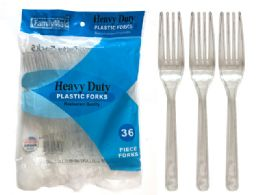 48 Units of Heavy Duty Restaurant Quality - Disposable Cutlery