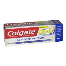 24 Units of Colgate Total Advanced Whitening - Toothbrushes and Toothpaste