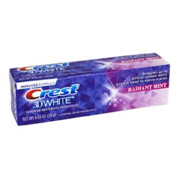 6 Units of Crest 3d White Radiant Mint Toothpaste - 0.85 Oz. - Toothbrushes and Toothpaste