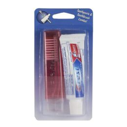 60 Units of Crest Regular Toothpaste & Travel Toothbrush - 0.85 Oz. Carded - Toothbrushes and Toothpaste