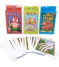 144 Units of Assorted Card Games 13.5x9.5cm - Playing Cards, Dice & Poker