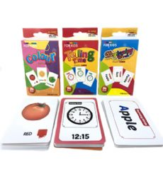 144 Units of Pre School Flash Card - Playing Cards, Dice & Poker