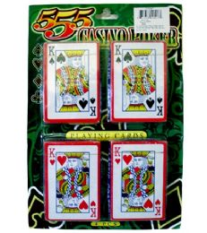 72 Units of 4pk Playing Cards 10x7 in - Playing Cards, Dice & Poker