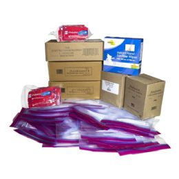 100 Units of Unisex Toiletry Kit for Kit Packing Event, 7 Piece Pack - First Aid and Hygiene Gear