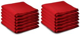 48 Units of Yacht & Smith 50x60 Warm Fleece Blanket, Soft Warm Compact Travel Blanket Solid Red - Sleep Gear