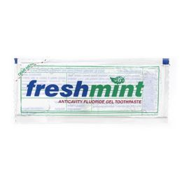 1000 Units of Freshmint 0.28 Oz. Single Use Clear Gel Anticavity Fluoride Toothpaste Packet - First Aid and Hygiene Gear