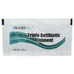 1728 Units of Careall 0.9g Triple Antibiotic Ointment Packet - First Aid and Hygiene Gear