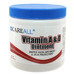 24 Units of CareALL 15 oz. Jar Vitamin A & D Ointment - Skin Care