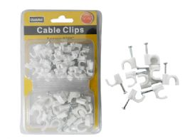 96 Units of White Cable Clips 6mm & 10mm - Wires