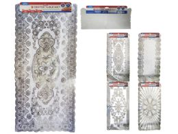 72 Units of Pvc Center Table Mat With Silver Printing - Placemats