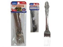 96 Units of 6pc Stainless Steel Forks - Kitchen Cutlery