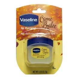 48 Units of Travel Size Vaseline Lip Therapy Vaseline Lip Therapy Creme Brulee 0.25 oz. Jar - Skin Care