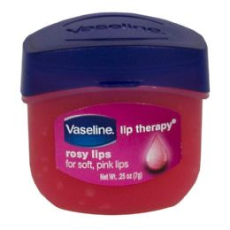 48 Units of Travel Size Vaseline Lip Therapy Vaseline Lip Therapy Rosy Lips Loose 0.25 oz. Jar - Skin Care