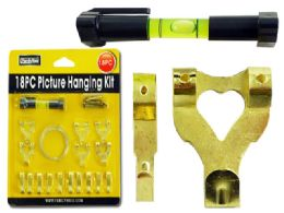 96 Units of 18pc Picture Hanging Kit - Hardware Products