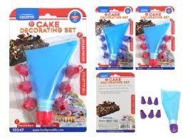 72 Units of 7pc Silicone Cake Decorating Kit - Baking Supplies