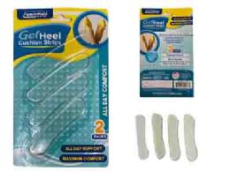 144 Units of Gel Heel Cushion Strips - Footwear Accessories
