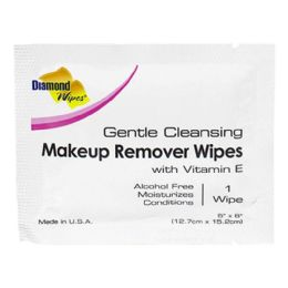 500 Units of Facial Cleansing Makeup Remover Towelette Travel Size - Cosmetic Cases