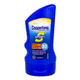 24 Units of Travel Size Coppertone Sport SPF 30 3 oz. - Skin Care