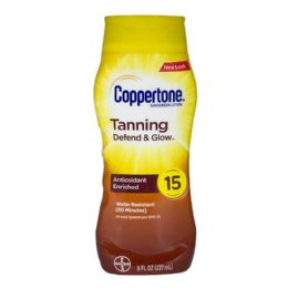12 Units of Coppertone Tanning Lotion SPF 15 Travel Size 8 oz. - Skin Care