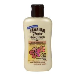 24 Units of Travel Size Hawaiian Tropic Sheer Touch Sunscreen Lotion SPF 30 2 oz. - Skin Care