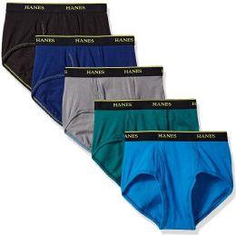 72 Units of Mens Hanes Assorted Colors And Sizes Brief Underwear, Cotton Tagless Underwear For MenM-XXL - Mens Underwear
