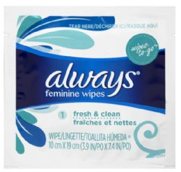 300 Units of Always Clean Alcohol Free Wipes - Personal Care