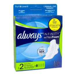 72 Units of Always Infinity Heavy Flow Pads - Personal Care