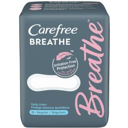 24 Units of Carefree Breathe Regular Liners Pack of 16 - Personal Care