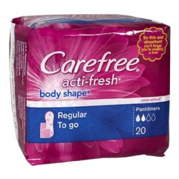 36 Units of Carefree Regular To go Pantiliners Pack of 20 - Personal Care