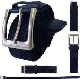48 Units of ELASTIC STRETCH BELT NAVY - Mens Belts
